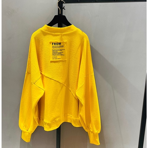 2021 New Spring Autumn Loose Korean Style Loose Women Top Cotton Ins Hoodie Round Neck Simple Pullover Sweatshirt 8