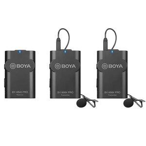 Image 2 - Boya BY WM4 Pro Wireless Studio Condenser Microphone Lavalier Lapel Interview Mic for Smartphone SLR camera