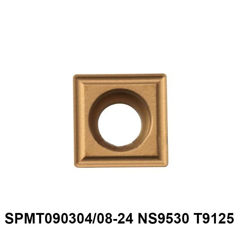 Original Tungaloy SPMT090304-24 SPMT090308-24 NS9530 T9125 SPMT 090304 090308 Carbide Inserts Lathe Tools Turning Cutter