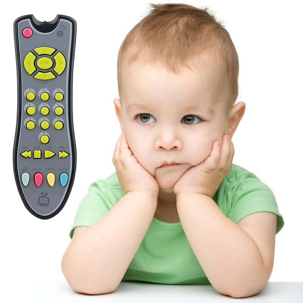 Musical Mobile Phone TV Remote Control Voices Pretend Play Educational Toys For Children Baby Music Toys Flash Sounds