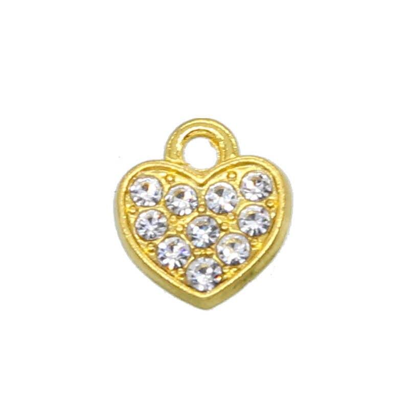 10PCS 10 MILLIMETRI in oro a forma di cuore guarnizione borda il braccialetto del pendente perline di alta qualità Fai Da Te accessori dei monili all'ingrosso