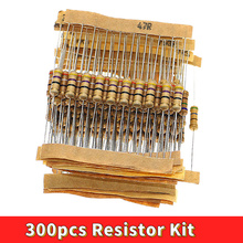 300pcs Resistor Kit 1W 5% 30values X 10pcs Carbon Film Resistance 0.1-750 ohm Set