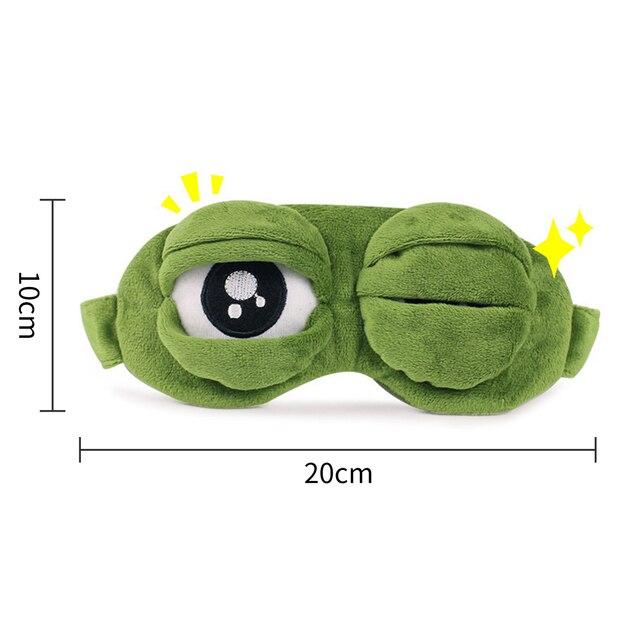Kids Sleep Mask Cute Sleeping Eye Mask Plush Eye Cover Sleeping Mask 3D Frog Green Eye Band Rest Eyepatch Eye Blindfold 3