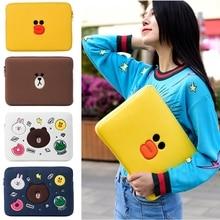 Cute Brown Bear Laptop Sleeve Bags Case for Funda font b Apple b font iPad 8