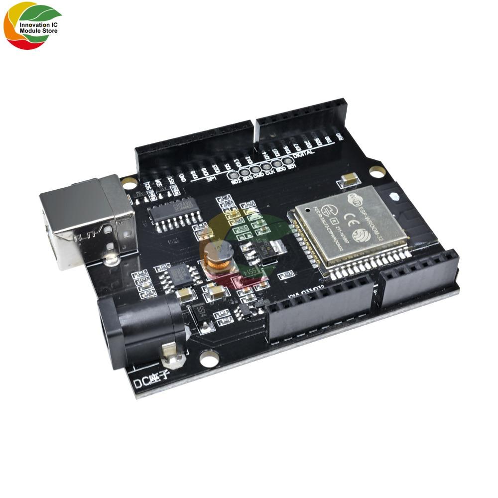 Макетная плата Ziqqucu DC 5-12 В ESP32 для Arduino UNO R3 Wemos D1 R32 Mini WIFI беспроводной Bluetooth CH340 USB Тип B адаптер