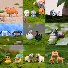 Boneco de neve Caracol Coruja Animais Miniaturas Figuras Mini Estatueta Ofício Vaso de Plantas De Jardim Ornamento Decoração Do Jardim De Fadas Em Miniatura DIY