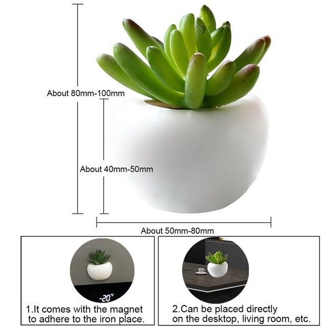 3d Fridge Sticker Magnetic Succulent Plant Fridge Magnet Sticker Bouquet Flower Fridge Potted Plant Sticker For Home Wall Decor 6