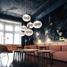 Nordic Led Pendant Lights Denmark Designer Glass Ball Hanging Lamps Living Room Restaurant Cafe Bar Pendant Lamp Decor Luminaire