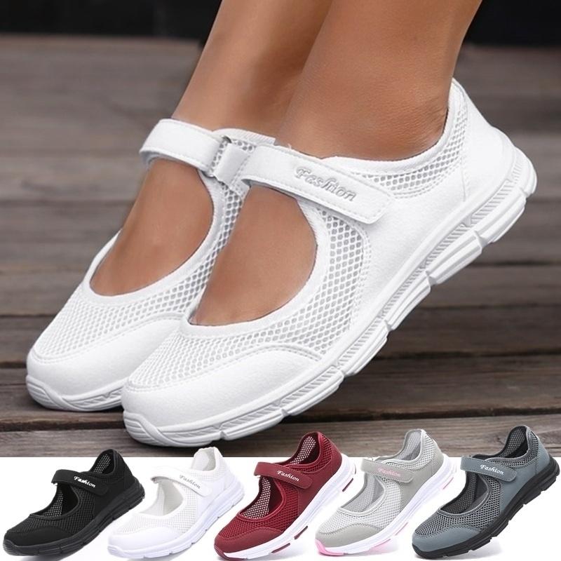 Womens Fashion Casual Running Shoes Women Sneakers Weave Mesh Fabric Comfortable Flats Shoes Zapatos De Mujer Shoes