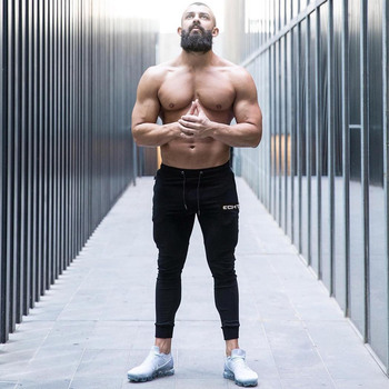 Gym Skinny Jogger Pants Men Running Sweatpants Fitness Bodybuilding Training Track Pants Sportswear Male Cotton