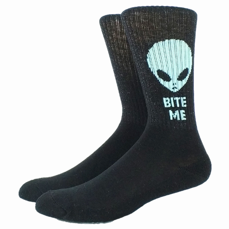 Thick  80% Cotton Funny Alien Men Socks