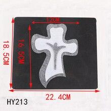 Chúa Giêsu Chéo Đồ Trang Trí Mới Bằng Gỗ Khuôn Cắt Qua Đời Cho Thêu Sò Thickness 15.8mm