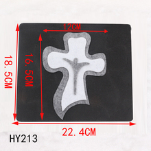 Jesus cross ornaments new wooden mould cutting dies for scrapbooking Thickness 15.8mm