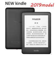 Todos-nova versão kindle preto 2019, agora com uma luz frontal embutida, wi-fi 4 gb ebook e-ink tela de 6 polegadas leitores de e-book