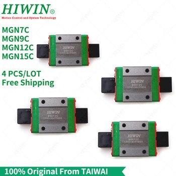 Free Shipping  4pcs/Lot  100% original HIWIN linear block MGN7C MGN9C MGN12C MGN15C carriage  for linear guide MGN7 MGN9 MGN12