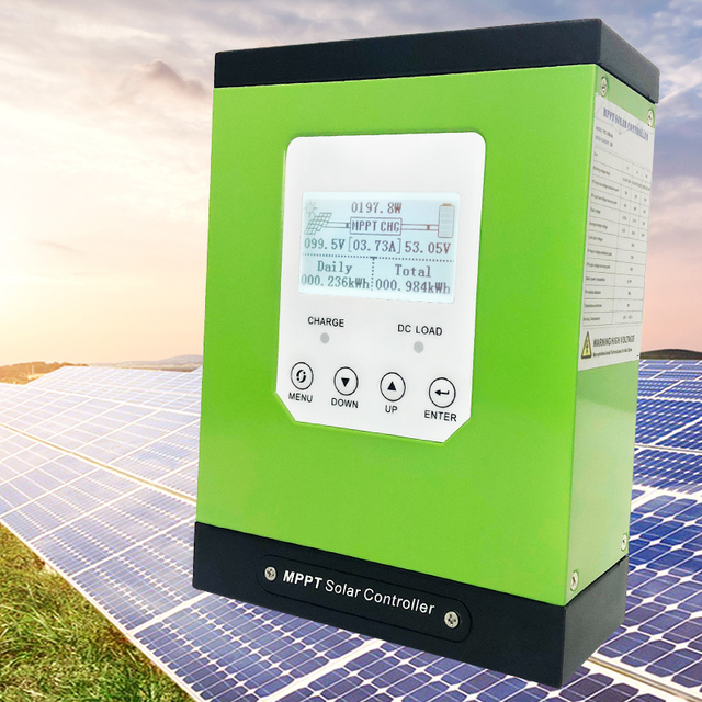mppt solar charge controller 20a 30a 40a 50a 60a solar panel regulator 12V 24V 48V96 LCD auto lithium-ion battery lead-acid cell 1