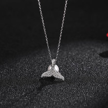 цена на S925 Pure Silver Natural Pearl Beauty Fish Tail Necklace Woman Niche Design Mermaid Clavicle Chain