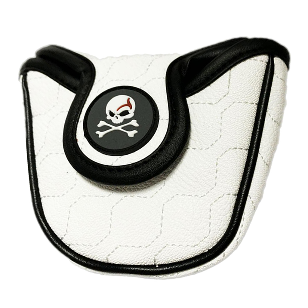 Delicate Golf Putters Head Covers Headcover Skull Golf Club Head Cover Protector PU Leather Golf Club Bag Guard