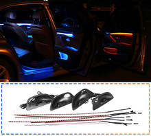 Car two color ambient Light for BMW F10 auto Inner door Glow Strip lamp tuning atmosphere lighting illumination armrest Lights(China)