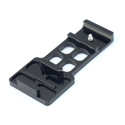 Hot TTKK CNC de aluminio 20mm montaje de carril lateral para GoPro Hero 1 2 3 4 5 para xiaomi yi /Gitup accesorios para Cámaras Deportivas
