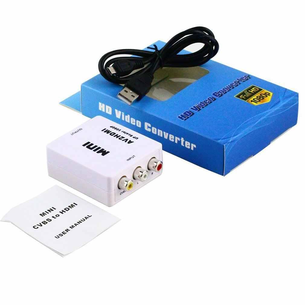 Rca Naar Hdmi, gana 1080P Mini Rca Composiet Cvbs Av Naar Hdmi Video Audio Converter Adapter Met Usb Charge Cable