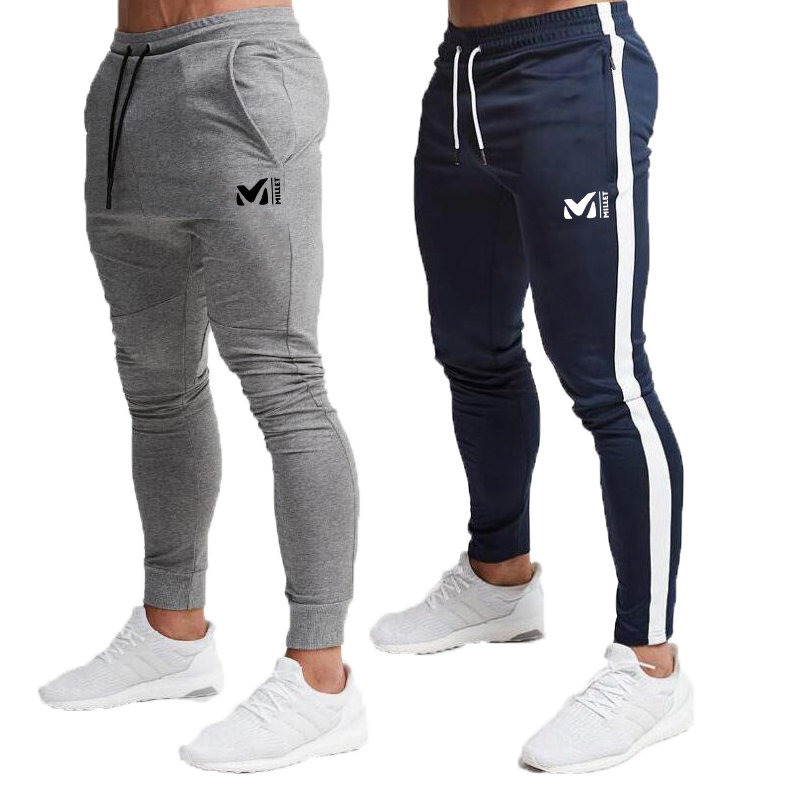 MILLET High Quality Brand Men Pants Fitness Casual Elastic Pants Bodybuilding Clothing Casual Camouflage Sweatpants Joggers Pant