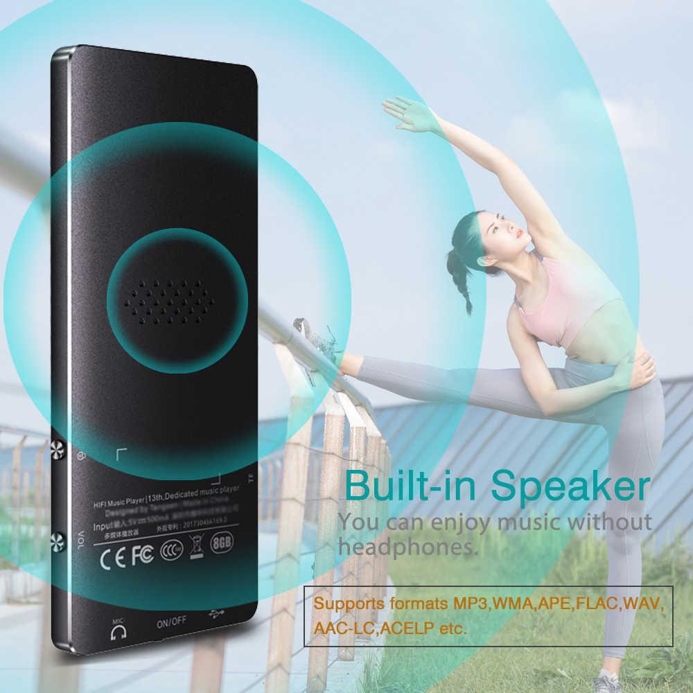 REDANT MP3 لاعب بلوتوث مع مفتاح اتصال المتحدث المدمج في 8GB 16GB ايفي المعادن البسيطة إستماع المحمولة مع راديو FM تسجيل