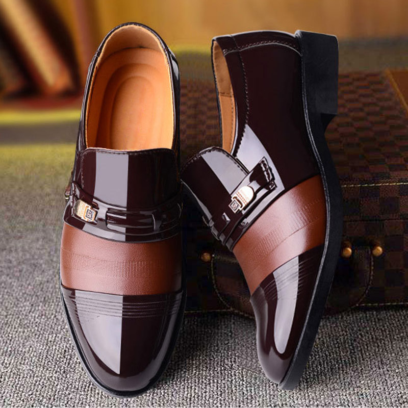 2020 new men dress shoes high quality leather formal shoes men big size 38-48 oxford shoes for men fashion office shoes men 4