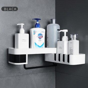 1 Pcs Corner Shower Shelf Bathroom Shampoo Shower Shelf Holder Kitchen Nail-Free Storage Rack Organizer Wall Mounted Rack 1
