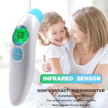 50^Baby Digital Infrared Kid Thermometer Gun Non-Contact Forehead Temperature Measurement Tool  LCD Digital Measure