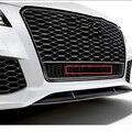 Автомобильный Стайлинг, передний нижний сотовый значок, логотип на четырех колесах для Audi quattr A6L Q3 Q5 Q7 RS3 RS6 S4 42 см, Большая эмблема решетки