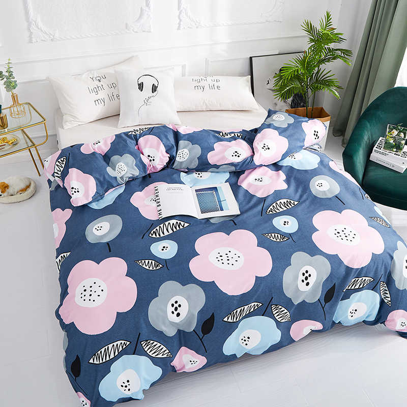2019 New Product 1pc 100%Polyester Pastoral Style Flowers Colorful Printed Duvet Cover