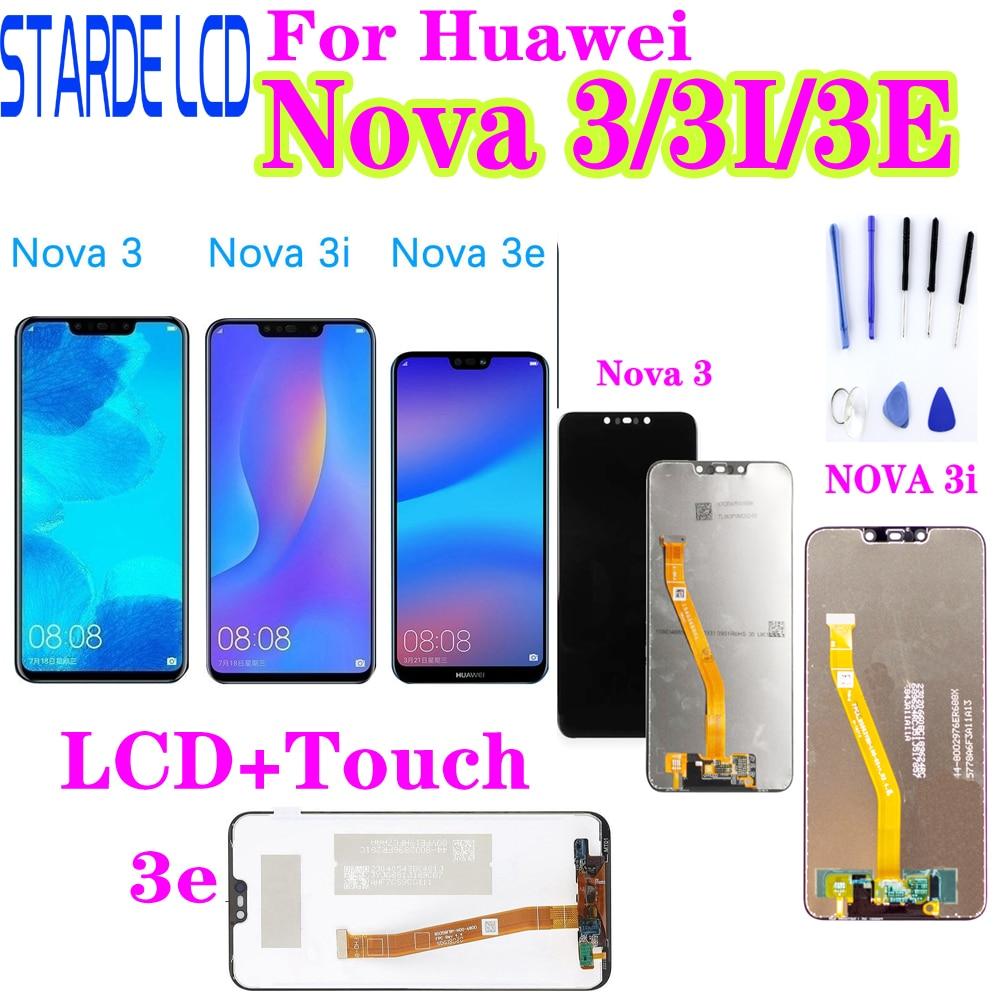 For Huawei Nova 3 LCD Display Touch Screen PAR LX1 LX9 Nova 3i LCD INE LX2 L21 Nova 3e Display ANE LX3 L23 Screen Nova3 Replace