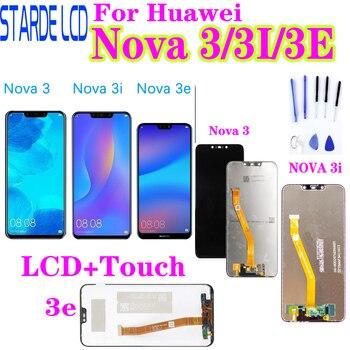 For Huawei Nova 3 LCD Display Touch Screen PAR LX1 LX9 Nova 3i LCD INE LX2 L21 Nova 3e Display ANE LX3 L23 Screen Nova3 Replace for huawei p20 lite ane lx1 ane lx3 lcd display touch screen digitizer assembly replacement for p20lite nova 3e 5 84 screen par