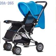 Новая детская прогулочная коляска, детская коляска для путешествий, детская коляска для новорожденных, банка для сидения и лежания на самолете, Золотая коляска