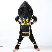 Boys Clothes Sets Black Ninjago Cosplay Costume Children Clothing Ninja Superhero Suits Halloween Christmas Party Clothes(China)