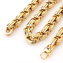 Granny Chic New Design Mens Jewelry Gold Color 15mm 8-40 Stainless Steel Huge Heavy Byzantine Chain Necklace Or Bracelet