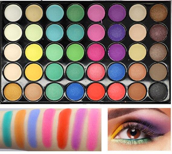 Палитра теней для век 40 цветов, макияж, тени для век, косметика, блеск, водостойкие, долговечные инструменты для макияжа для женщин, красота|Наборы для макияжа|   | АлиЭкспресс
