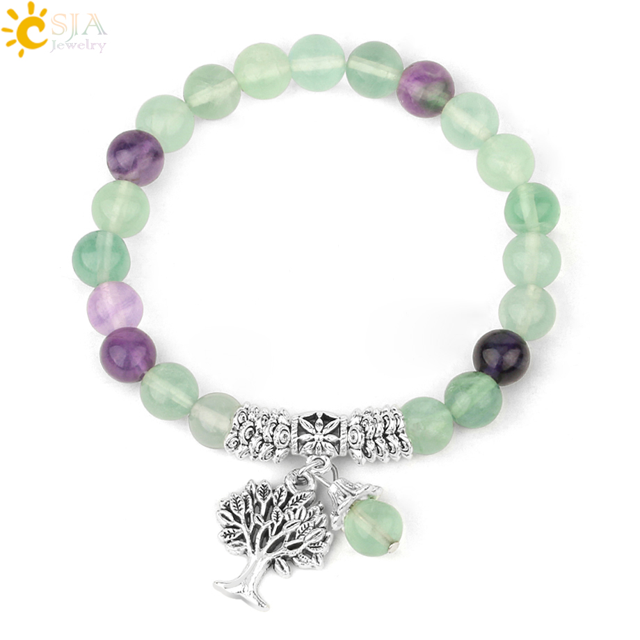 FLUORITE Bracelet Natural Stone 8mm AAA Grade Healing Crystal Bracelet Reiki