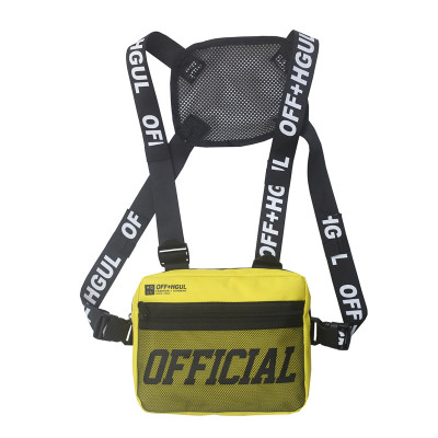 Fashion Streetwear Men Hip-Hop Chest Bag Women Tactical Two Straps Chest Rig Bags Trendy Style Rectangle Chest Utility Pack G122