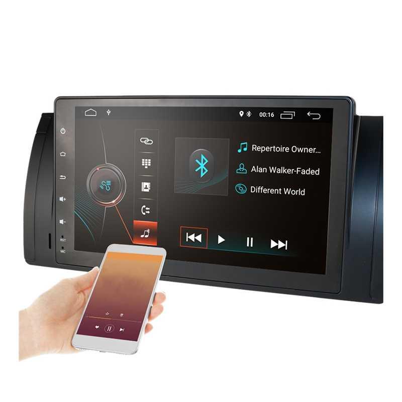 9 Inch Android 9.1 2 + 16G GPS Dẫn Đường Đa Phương Tiện Bluetooth Autoradio Dàn Âm Thanh Xe Hơi Cầu Thủ Cho Xe BMW e39 E53 X5
