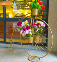 цена на Retro props window decoration ornaments flower shelf European bicycle iron floats home decoration furnishings wedding props