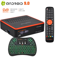 Neue Android DVB TV box GTMEDIA GTCOMBO Android 9.0 + DVB-S2X + DVB-T2 Satellite Empfänger H.265,4K/8K Tuner BT 4.1, M3U,CCam Decoder