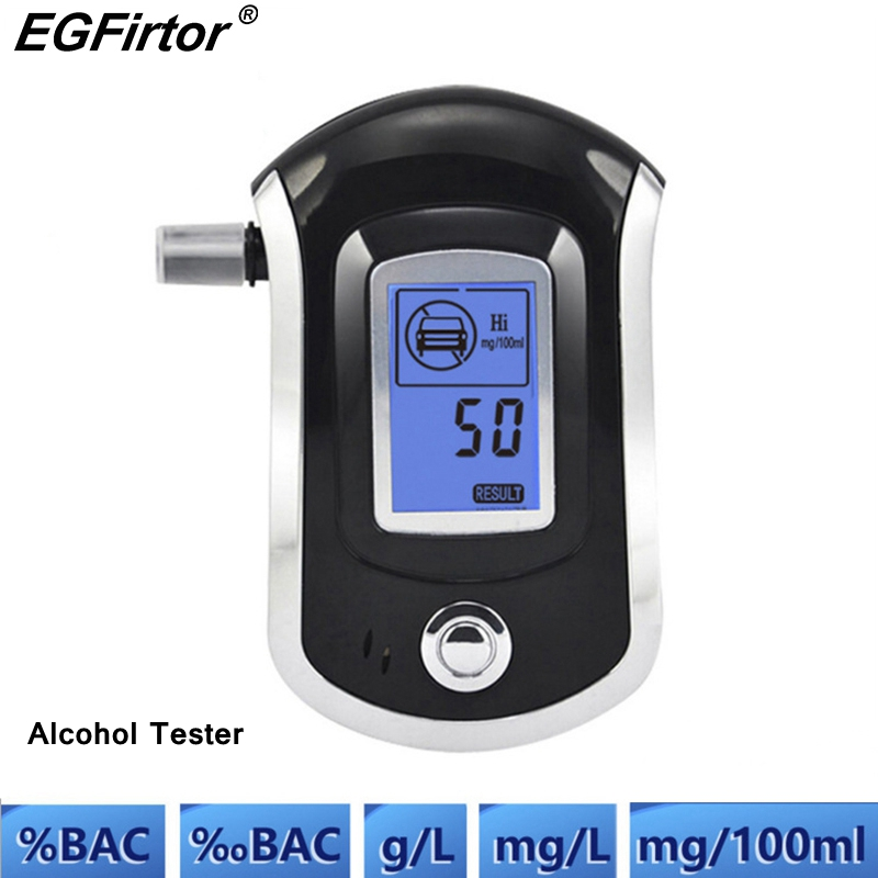 Security Products Professional Digitals Breath Alcohol Tester LCD Display Police Alcohol Parking Breathalyser Sensor