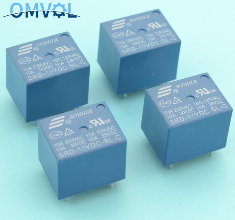 24V Mini Power Songle Relay SPDT 5-Pins