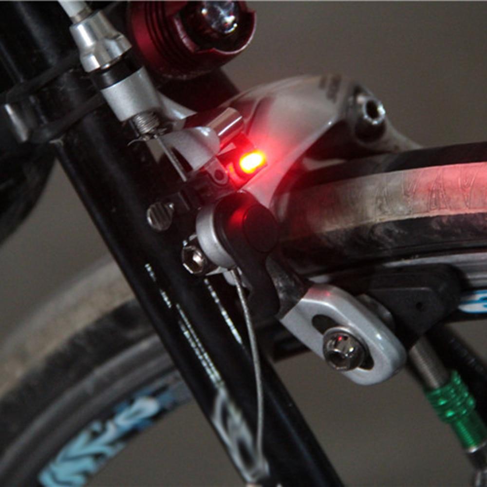 1pc Red Bicycle Bike Cycling Nano Brake LED Light Mini Travel W/ CR1025 Battery Safety Warning Lamp For MTB Mountain Road Bike