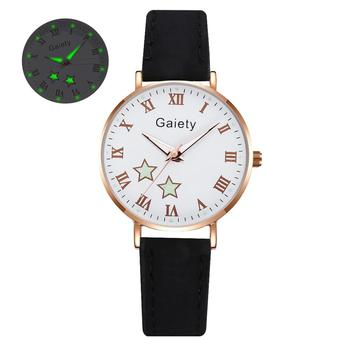 2021 NEW Women Watches Simple Vintage Small Watch Leather Strap Casual Sports Wrist Clock Dress Wristwatches Reloj mujer - G666-BK