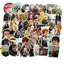 60pcs TV Series Game of Thrones Stickers for  Luggage Car Laptop Notebook Decal Fridge Skateboard Sticker