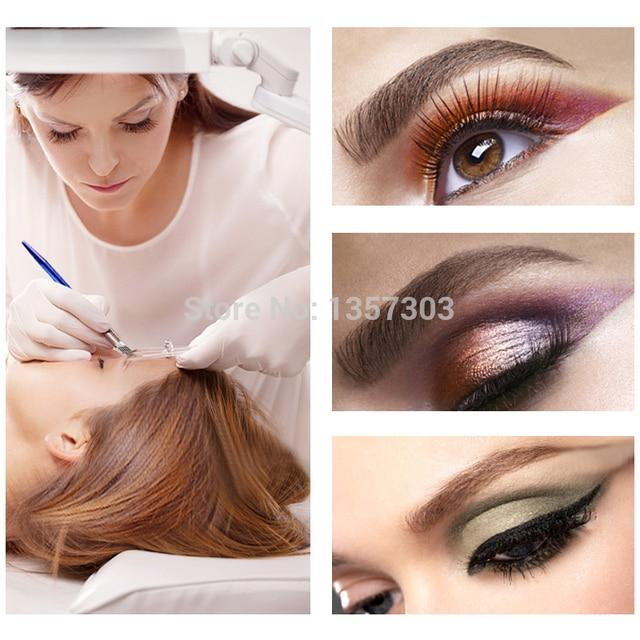 10pcs 3Rows 2Rows  tattoo Needle Accessories Permanent Makeup Sterilized Purple tebori Microblading Blade For Eyebrow Lip 1