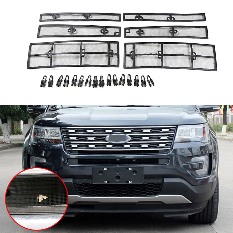 For Ford Explorer Car Insect Screening Mesh Front Grille Insert Net Accessories